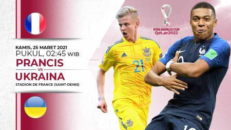 Pertandingan Prancis vs Ukraina (Kualifikasi PD Eropa). - INDOSPORT