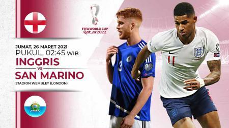 Pertandingan Inggris vs San Marino (Kualifikasi PD Eropa). - INDOSPORT