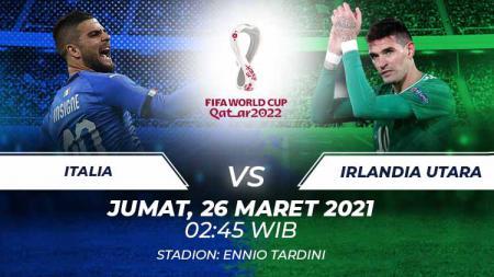 Italia vs Irlandia Utara. - INDOSPORT