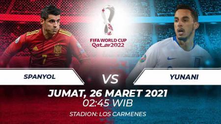 Berikut link live streaming pertandingan Kualifikasi Piala Dunia 2022 antara Spanyol vs Yunani, Jumat (26/03/21) pukul 02:45 dini hari WIB. - INDOSPORT