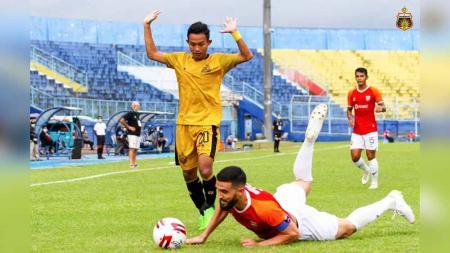 Laga Bhayangkara Solo FC vs Borneo FC di Piala Menpora 2021. - INDOSPORT