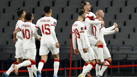 Berikut hasil pertandingan kualifikasi Piala Dunia 2022 zona Eropa antara Turki vs Belanda, Kamis (25/03/21). Tim Oranye babak belur oleh hattrick Burak Yilmaz. - INDOSPORT