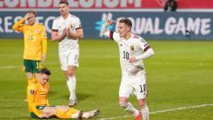 Indosport - Berikut hasil pertandingan kualifikasi Piala Dunia 2022 zona Eropa antara Belgia vs Wales, Kamis (25/03/21). Sempat tertinggal, Belgia sukses lakukan comeback.