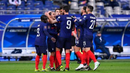 Berikut hasil pertandingan kualifikasi Piala Dunia 2022 zona Eropa antara Prancis vs Ukraina, Kamis (25/03/21). Prancis gagal menang gara-gara gol bunuh diri. - INDOSPORT