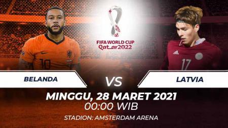 Berikut link live streaming pertandingan Kualifikasi Piala Dunia 2022 antara Belanda vs Latvia, Minggu (28/03/21) pukul 00:00 dini hari WIB. - INDOSPORT