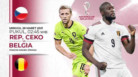 Berikut link live streaming pertandingan Kualifikasi Piala Dunia 2022 Grup E yang akan mempertemukan Republik Ceko vs Belgia. - INDOSPORT