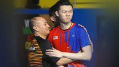 Indosport - Hendrawan dan Lee Zii Jia.