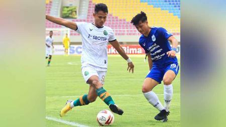 Laga pertandingan antara Persikabo vs PSIS Semarang di Piala Menpora 2021. - INDOSPORT