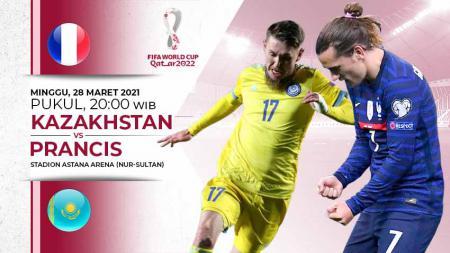 Prediksi pertandingan Kualifikasi Piala Dunia 2022 antara Kazakhstan vs Prancis. - INDOSPORT