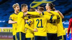 Indosport - Selebrasi Tim Swedia.