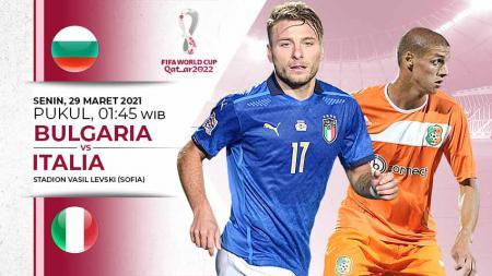 Berikut prediksi pertandingan Kualifikasi Piala Dunia 2022 Qatar zona Eropa antara Bulgaria vs Italia, Senin (29/03/21) pukul 01.45 WIB. - INDOSPORT
