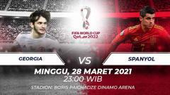 Indosport - Georgia vs Spanyol.