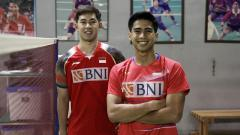 Indosport - Pasangan ganda putra Indonesia, Sabar Karyaman Gutama/Moh Reza Pahlevi Isfahani.