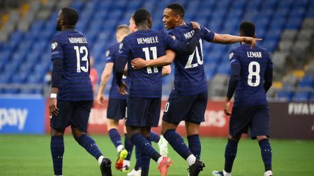 Hasil pertandingan Kualifikasi Piala Dunia 2022 yang mempertemukan Kazakhstan vs Prancis, Minggu (28/03/21) malam WIB. - INDOSPORT