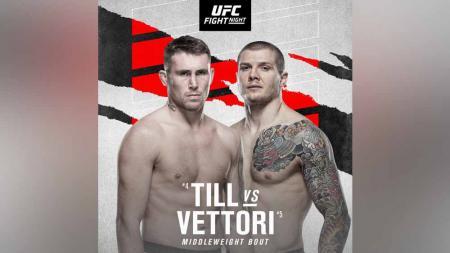 Duel Darren Till vs Marvin Vettori di kartu utama UFC Vegas 23. - INDOSPORT