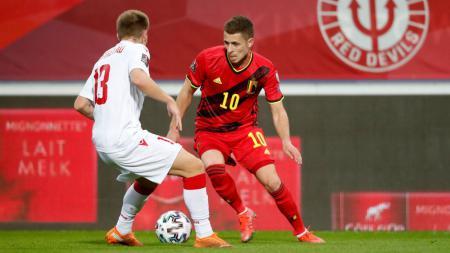 Berikut adalah rekap hasil pertandingan Kualifikasi Piala Dunia 2022 zona Eropa di mana Belanda dan Belgia berpesta pora. - INDOSPORT