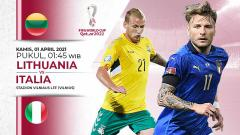 Indosport - Prediksi pertandingan Lithuania vs Italia.
