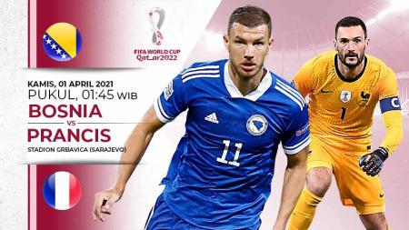 Pertandingan Bosnia vs Prancis (Kualifikasi PD Eropa). - INDOSPORT