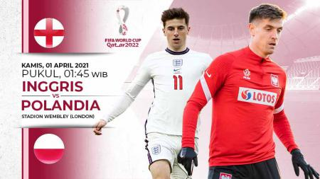Link Live Streaming Kualifikasi Piala Dunia 2022 antara Timnas Inggris vs Timnas Polandia. - INDOSPORT