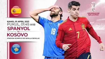 Pertandingan Spanyol vs Kosovo (Kualifikasi PD Eropa). - INDOSPORT