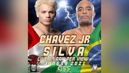 Julio Cesar Chavez Jr vs Anderson Silva di duel tinju. - INDOSPORT