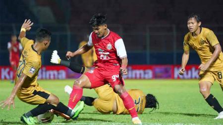 Laga ketiga grup B Piala Menpora 2021 antara Persija vs Bhayangkara FC di Stadion Kanjuruhan Malang, Rabu (31/03/21). - INDOSPORT
