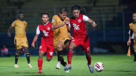 Pertandingan Piala Menpora antara Persija vs Bhayangkara FC. - INDOSPORT