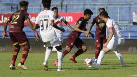 Laga ketiga grup B Piala Menpora anatara PSM vs Borneo FC di Stadion Kanjuruhan Malang, Rabu (31/03/21). - INDOSPORT