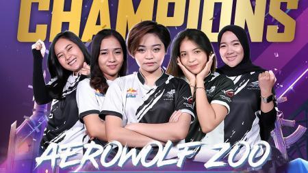 Aerowolf Zoo, juara PMPL Ladies ID S3. - INDOSPORT