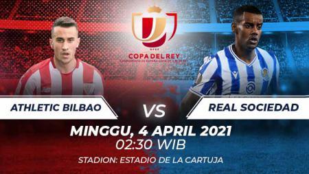 Berikut link live streaming pertandingan final Copa del Rey 2020 yang akan mempertemukan Athletic Bilbao vs Real Sociedad. - INDOSPORT