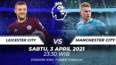 Indosport - Link Live Streaming Liga Inggris antara Leicester City vs Manchester City.