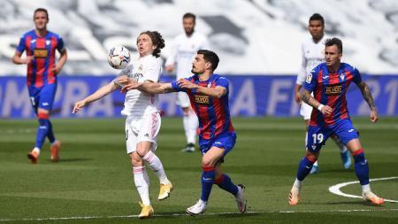 Real Madrid sukses mengalahkan tamunya, Eibar, pada laga lanjutan pekan ke-29 LaLiga Spanyol 2020-2021, Sabtu (03/04/21) malam WIB. - INDOSPORT