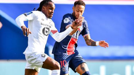 Pemain PSG, Neymar Saat Menghadapi Lille di lanjutan Liga Prancis - INDOSPORT