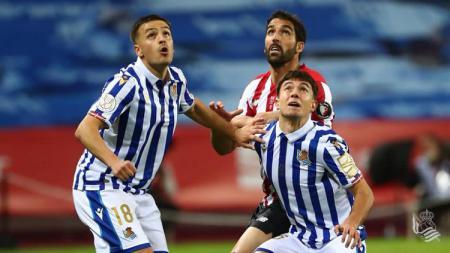 Laga antara Athletic Bilbao vs Real Sociedad di final Copa del Rey 2019-2020. - INDOSPORT