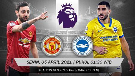 Link Live Streaming Liga Inggris antara Manchester United vs Brighton & Hove Albion. - INDOSPORT