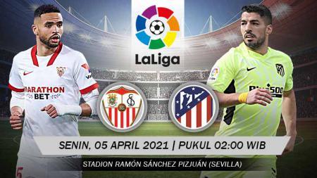 Berikut link live streaming Pertandingan LaLiga Spanyol antara Sevilla vs Atletico Madrid. - INDOSPORT