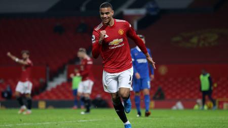 Manchester United berhasil meraih kemenangan tipis susah payah atas Brighton & Hove Albion dengan skor 2-1 dalam laga lanjutan Liga Inggris pekan ke-30. - INDOSPORT