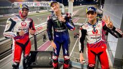 Indosport - Fabio Quartararo (tengah) memenangkan balapan seri kedua MotoGP di Sirkuit Losail, Doha, Qatar.