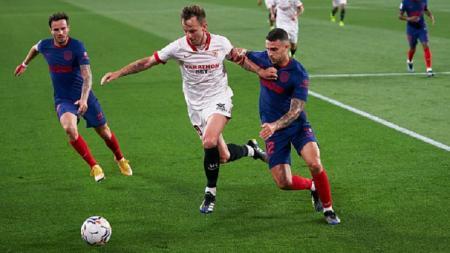 Atletico Madrid gagal meraih kemenangan usai dikandaskan Sevilla dengan skor 1-0 dalam laga lanjutan LaLiga Spanyol pekan ke-29. - INDOSPORT