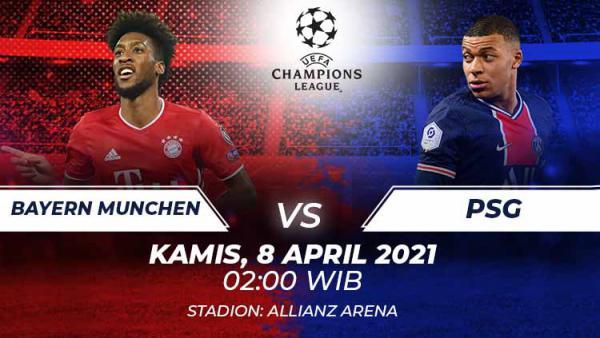 Link Live Streaming Pertandingan Liga Champions: Bayern Munchen vs PSG - INDOSPORT.COM