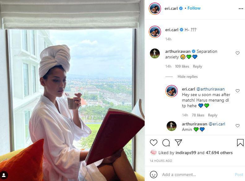 Erika Carlina dan Arthur Irawan Umbar Kemesraan di Sosmed Copyright: Ig eri.carl