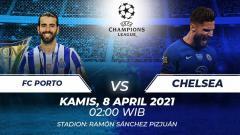 Indosport - Berikut link live streaming laga leg pertama babak perempatfinal Liga Champions 2020/2021 antara FC Porto vs Chelsea pada Kamis (08/03/21) pukul 02:00 WIB.