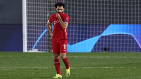 Mohamed Salah kecewa berat usai Liverpool kalah dari Real Madrid - INDOSPORT