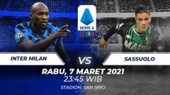 Indosport - Berikut prediksi pertandingan Serie A Liga Italia antara Inter Milan vs Sassuolo.