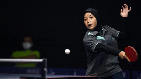 Rofiana Nurul Sabilla, berhasil meraih satu emas  di kejuaran DJ Table Tennis Invitation U-20 khusus putri. - INDOSPORT