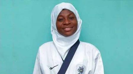 Aminat Idrees, Atlet taekwondo asal Nigeria. - INDOSPORT
