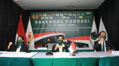 Indosport - PP Pordasi telah menggelar Rapat Kerja Nasional (Rakernas) 2021 pada 7-8 April 2021.