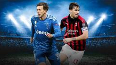 Indosport - AC Milan dan Juventus barter Romagnoli-Bernardeschi, siapa diuntungkan?