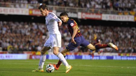 Real Madrid vs Barcelona: Ketika Marc Bartra Butuh Sepeda Motor Buat Mengejar Gareth Bale - INDOSPORT