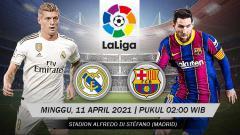 Indosport - Pertandingan Real Madrid vs Barcelona (LaLiga).